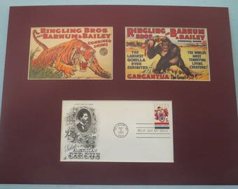 The Ringling Brothers and Barnum-Bailey Circus & First Day Cover of the Circus Stamp