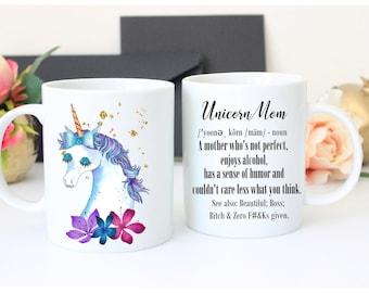 Unicorn Mom Mug, Unicorn Mug, Unicorn Funny Coffee Mug, Unicorn Gift, Mom Mug, Magical Unicorn Mug, Mom Life Mug, Unicorn Cup