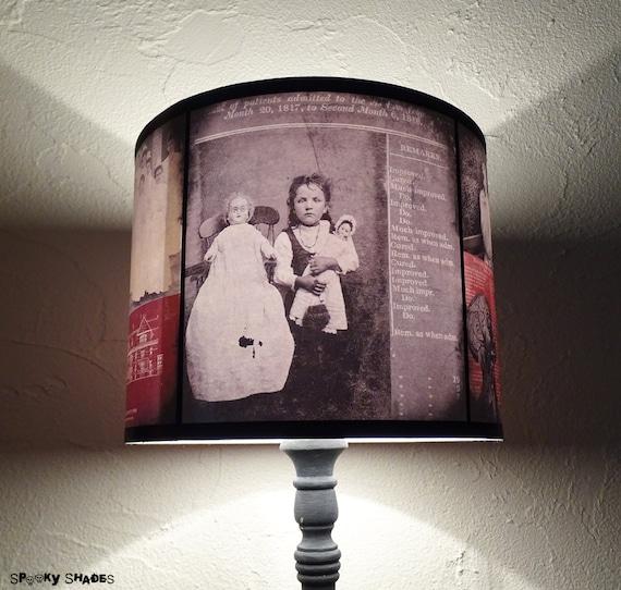 Asylum lamp shade unique light creepy halloween decor dark aloadofball Images
