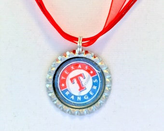 Texas RANGERS Baseball Handcrafted Necklace