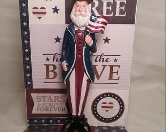 Uncle Sam Patriotic figurine