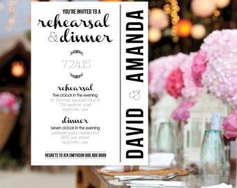 Laurel Rehearsal Dinner Invitation Printable