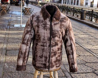Sheepskin jacket shearling Vintage Original Size man