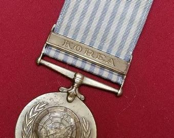 WW2 Korean War ~ United Nations ~ Medal ~ Uniform - Rare ~ Incredible!!!