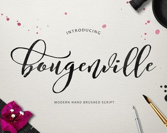 Handwriting font etsy