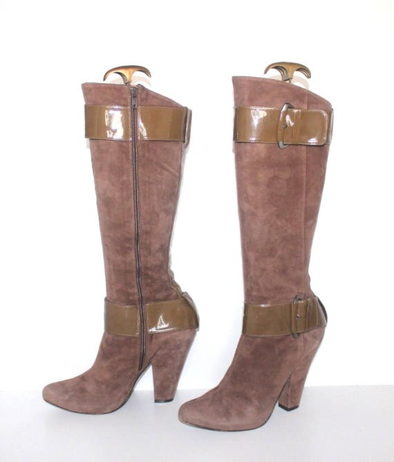 Real Mocha LOPEZ 5 UK5 Heel Women's High 5 EU38 Vintage PURA Leather Boots Size PTqyycWvI1