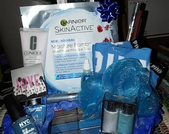Blue Beauty Spa Gift Basket!
