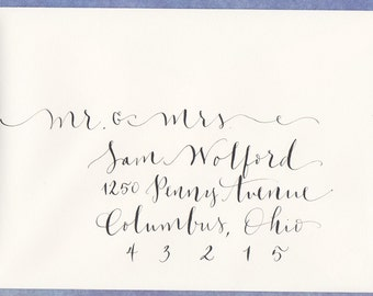 wedding envelope addressing - hand calligraphy