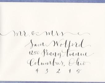 mariage enveloppe abordant - calligraphie à la main