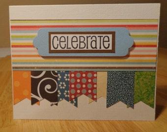 Celebrate blank card