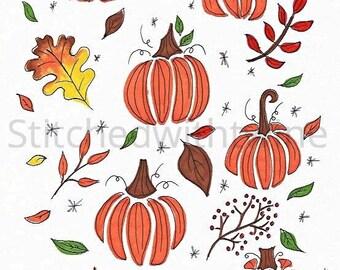 Fall patterns print