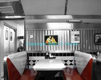 Nostalgic Diner Booth