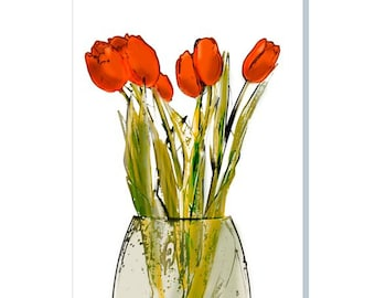 Red Tulips Impression
