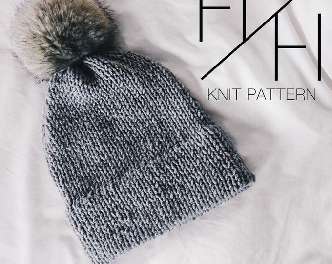 The Doubly // Knit PATTERN with Video Tutorials // Double Brim Beanie PATTERN