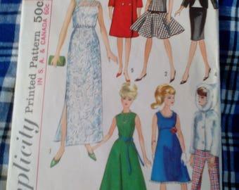 Vintage 60s Barbie Doll Pattern # 6208 Simplicity Not A PDF Copy