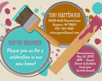 Housewarming Party Invitation | Moving Announcement | New Address Annoucment Card | House Warming Invite |  Print Your Own
