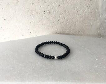 Small Black Stretch Bracelet
