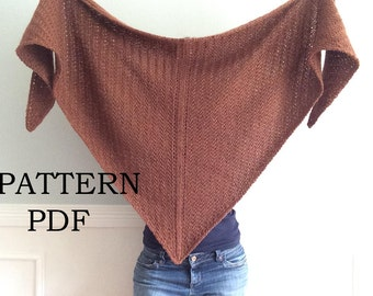 PATTERN PDF, Pattern for DIY knitted Cavendish Wrap, Shawl, Cowl, Easy knitting Pattern, Instant Download