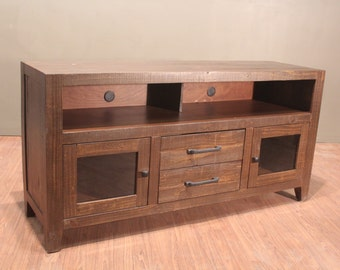 Rustic Solid Reclaimed wood TV stand Media Console Entertainment center