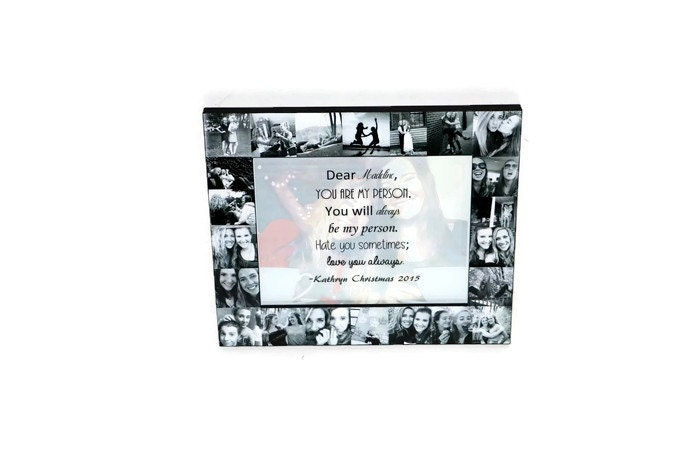 Christmas Message Best Friend Picture Frame Collage Photo Frame ...