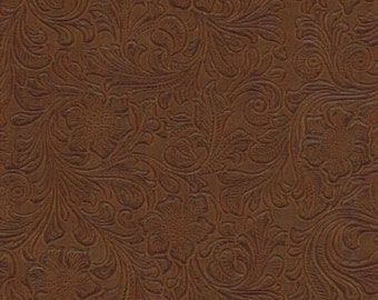 Faux Leather Fabric Upholstery Vinyl Embossed Trail824 Nugget by the Yard