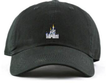 Disney World Castle Dad hat, Disney World Castle baseball hat,  Cinderella's Castle, Cinderella Castle Hat, Disney Dad Hat