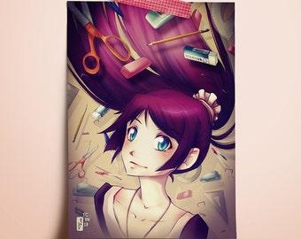 "Bakemonogatari (Senjougahara) - Mini Print 5""x7"""