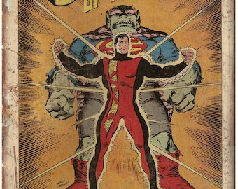 "Superman Of Tomorrow Krypton Man Comic Ad 10"" X 7"" Reproduction Metal Sign J111"