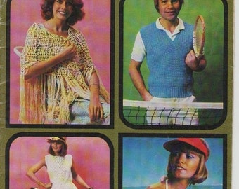 ON SALE ON Sale - Patons Quick Knits No 499  - Knitting and Crochet Pattern for Family, Vintage 1970s Tops, Cardigan, Jumper, Shawl