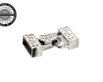 Stainless Steel Square magnetic hook and eye bracelet clasp (1706)