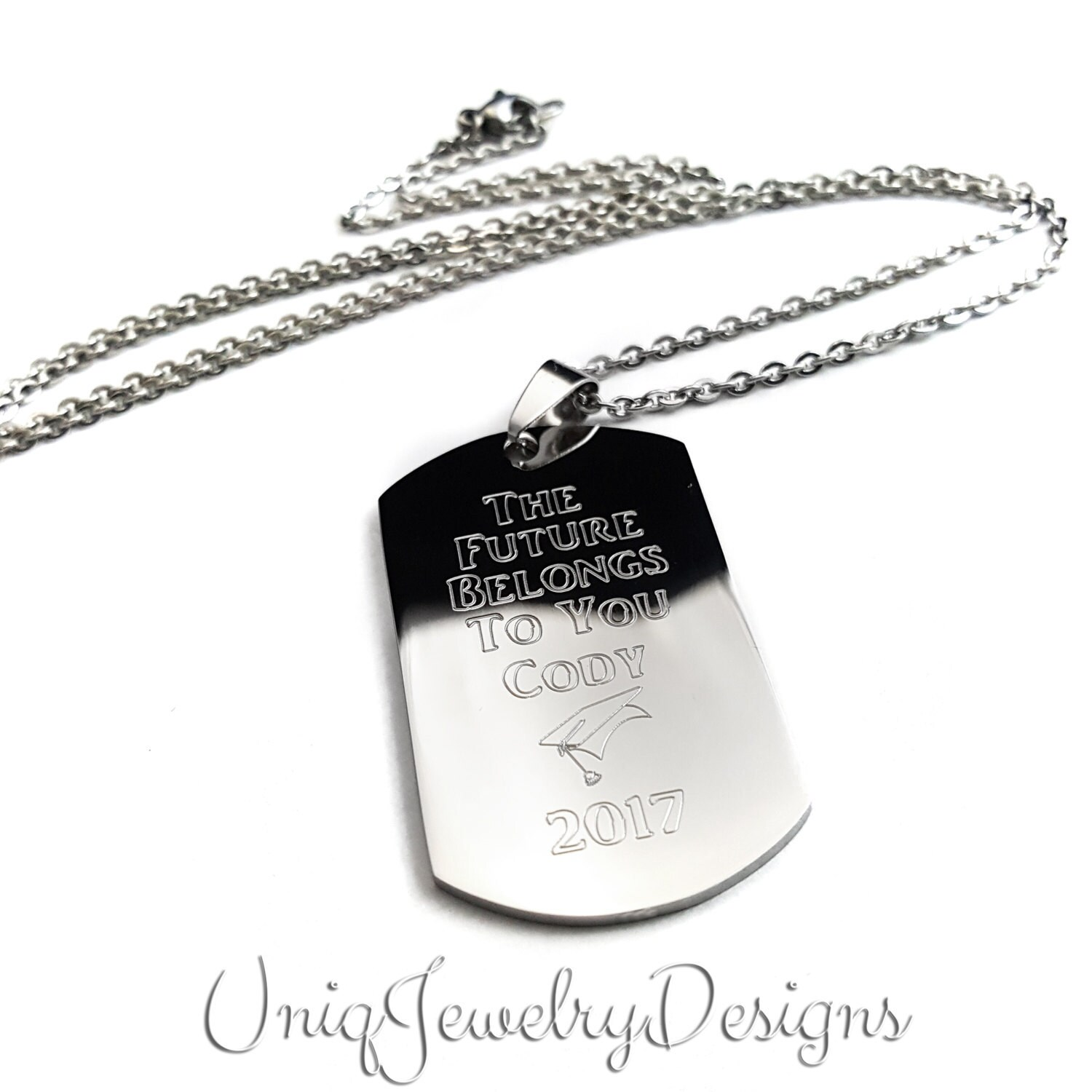 Graduation Jewelry Graduation Dog Tag Engraved Dog Tag