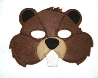 Children's BEAVER Felt Woodland Animal Mask