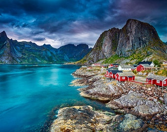 Norway - View of a fjord with small town - SKU 0071