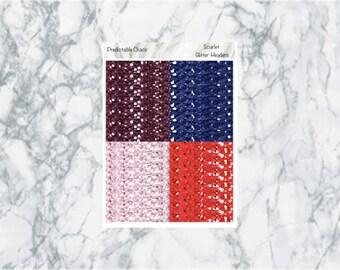 Scarlet Glitter headers, planner stickers