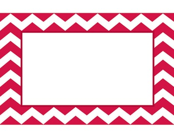 50 Red & White Chevron Print Florist Blank Enclosure Cards Small Tags Crafts (Free Shipping!)
