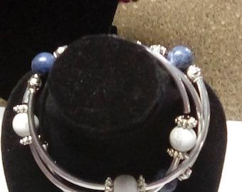 Matte howlite, sodalite  natural gemstones