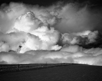 Clouds | Black and White | Fine Art Photography | polychromatophil | Photo | Snow | Storm | Giant Storm | Zermatt | Swiss Alps