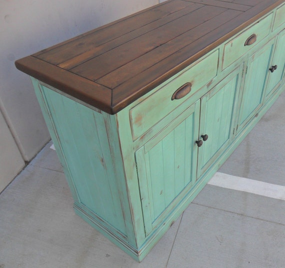 Sideboard Server Buffet Reclaimed Wood Rustic Farmhouse
