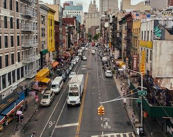 New York City print, Views, New York street, Canal Street, New York photography, Industrial photo, industrial decor
