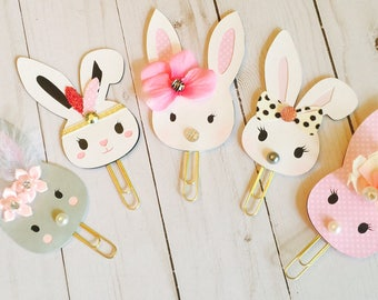 Bunny Planner Clips ~ Bunny Page Clips ~ Bookmark ~ Stationery