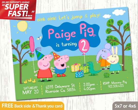 PEPPA PIG INVITATION Peppa Birthday Invitation Peppa