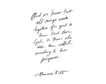 ROMANS 8:28 // 5x7 Print