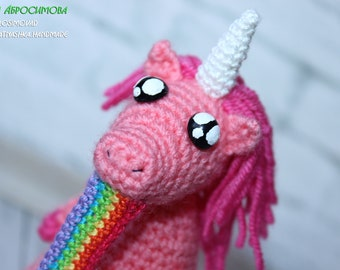 Unicorn amigurumi in euphoria