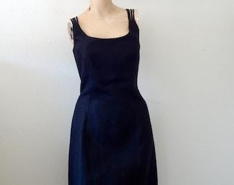 Cocktail Dress - Tom and Linda Platt designer vintage LBD - spring & summer party attire size M