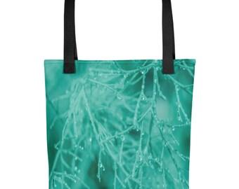 Bright Teal Mist Tote bag