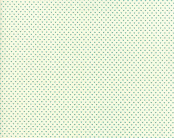 Home Sweet Home Aqua on Cream Swiss Heart Yardage  SKU# 20577-21