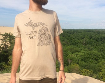 Michigan Made T-Shirt Hops Beer Craft Brewery Home Brewing