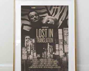 Lost in Translation Poster // Sofia Coppola // Bill Murray // Minimal Movie Poster // 11 x 17 // A3 // RIBBA 290 x 390mm