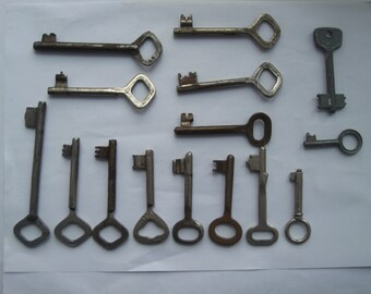 Set vintage keys, 15 keys, Skeleton Key, Set skeleton keys, Vintage keys, antique keys, old keys, vintage Soviet
