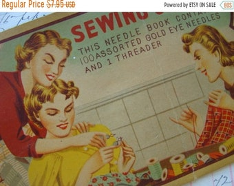 ONSALE Sewing Circle Gold Eye Needles Antique Needle Book N0 420